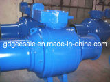 Welded de cobre amarillo Ball Valve Made en China