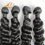 Tecelagem profunda do cabelo humano de Remy da onda da extensão peruana do cabelo do Virgin