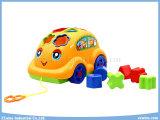 Block-Spielwaren-Karikatur-Auto-pädagogische Spielwaren mit Kabel
