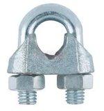 Clip galvanisé de câble métallique de l'acier DIN 741