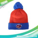 球(085)が付いているカスタマイズされた多彩な冬の可逆ニットの帽子の帽子
