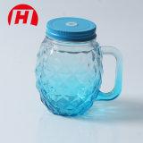 450ml de veelkleurige Kruiken van de Metselaar van het Glas met Handvatten en het Drinken de Fles van de Ananas van het Glas