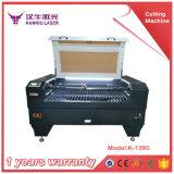 K1390 arriba y abajo del corte del laser de la plataforma y de la máquina de grabado