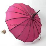 paraguas al aire libre del paraguas recto del paraguas de la pagoda 16K (YS-1001A)