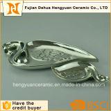 除草の装飾のための銀製のフラミンゴの形ハンドメイドの陶磁器のPlates&Dishes
