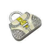 Vara do USB do metal da memória Flash do USB da bolsa da jóia mini