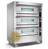 3 6 camadas do forno elétrico clássico da pizza das bandejas com a pedra para Bussiness (WFC-306D)