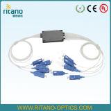 SC/PC mini Vlak Optische PLC van de Vezel van de Kring Lightwave Splitsers