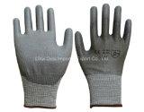 13G Hppe Antischnitt-Sicherheits-Handschuh mit PU beschichtet