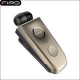Fones de ouvido sem fio personalizados 4.1 retráteis Bluetooth Earbuds para o telefone móvel com projeto do grampo do colar