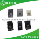 Etiqueta tecida saco, feita do tafetá, de alta qualidade