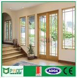 Puerta del marco del estilo de Pnoc080221ls Europa con el vidrio laminado