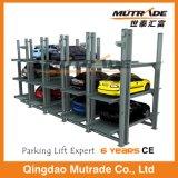 Galvanisierter Pfosten-hydraulischer Auto-Parken-Aufzug der Vertiefung-vier