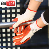 Nmsafety рециркулирует прокатанную Polycotton перчатку конструкции латекса резиновый