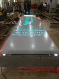 Plasterungs-im Freienbekanntmachenfußboden-Typ, der frei Signage-Träger-Zeichen steht