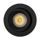 Plafonnier enfoncé par inclinaison ronde de l'aluminium GU10 MR16 LED de tour (LT2204B)
