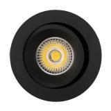 Потолочное освещение алюминия GU10 MR16 круглым утопленное наклоном СИД Lathe (LT2204B)