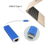 USB3.1 Type C a LAN Adapter de Ethernet do gigabit