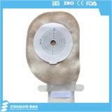 Weicher Schutzträgereinteiliger Ileostomy-Beutel mit Flausch-Schliessen