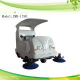 Straßen-Reinigungs-Maschine, Kehrmaschine, Straßen-Kehrmaschine, ausgedehnte Maschine, Kehrmaschine fahrend