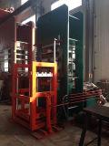 Machine de vulcanisation en caoutchouc de pneu solide/pneu solide corrigeant la presse