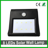 Luz solar impermeable al aire libre del jardín del sensor de la luz PIR de la pared de 8LEDs LED