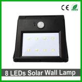 Indicatore luminoso solare impermeabile esterno del giardino del sensore dell'indicatore luminoso PIR della parete di 8LEDs LED