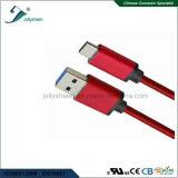 USB het Laden van het Type C Kabel met Rode Vlecht en Matel HoofdCe RoHS