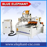 4つの軸線CNCの回転式木製のルーターCNCの0809 CNCの回転式木製の旋盤、CNCは回転式4軸線を機械で造る