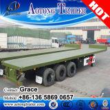 중국 제조자 2-4 차축 편평한 침대 트레일러, 반 20foot 평상형 트레일러 트레일러, 40feet 콘테이너 판매를 위한 평상형 트레일러 트럭 트레일러