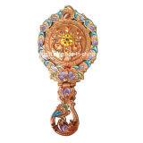 Kosmetische Spiegel van de Gravure van het houvast de Gouden Holle