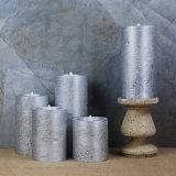 La bougie sans flammes de DEL allume les bougies réelles de cire de l'effet DEL en métal avec les bougies à télécommande de Noël DEL