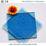glace r3fléchissante bleue de 12mm avec du ce et ISO9001 pour le guichet en verre