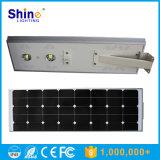 50W tutto in un indicatore luminoso solare solare della strada dell'indicatore luminoso di via del LED con Ce RoHS approvato