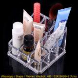 Maquillaje de acrílico transparente/rectángulo cosmético