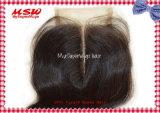 Chiusura brasiliana della parte superiore del merletto dell'onda del corpo della parte del centro dei capelli