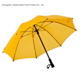 섬유유리 프레임 늑골을%s 가진 반대로 UV 골프 우산 여행 우산