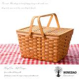 Hongdao Eco hecho a mano de Willow almacenaje cesto cesta / regalo _D
