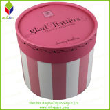 Grade elevado Storage Packing Black Round Box para Garment