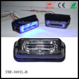Color blu LED Car Surface Mount Lightheads in Lin3 Lens