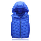 Crianças Slim Warm Outwear Overcoat Hooded Vest Down Jacket 602