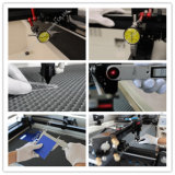 Ledernes Papier-Glasstich-Ausschnitt CNC Laser, der Maschine schnitzt