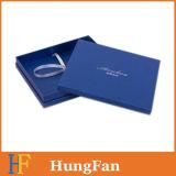 Rectángulo de regalo de papel de encargo/rectángulo de papel de empaquetado con el sellado caliente