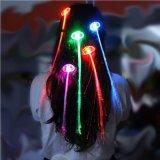 Colorido LED pelucas brillantes Flash LED pelo trenzado Clip horquilla decoración luz para mostrar la fiesta de la danza de Navidad Haloween