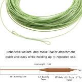 溶接されたループ緑のフライフィッシングラインを浮かべるはえライン