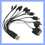 10 in 1 USB Multi-Function Charger Cable für iPhone Samsug HTC Sony Handys MP3 MP4 (Cable-04)