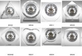 Horloge de dessus de table de quartz de transparent