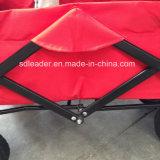 Vagão de dobramento com dossel & o saco refrigerando - saco vermelho