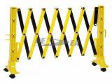 Barreira de segurança expansível plástica amarela da estrada