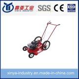 Cortador de alta roda com mão começando por gramado pequeno